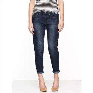 Gap Dark Wash Straight Denim Sexy Boyfriend Jeans